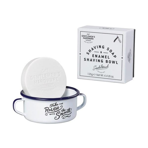 Set smaltované misky a mýdla na holení Gentlemen's Hardware Rough & Smooth
