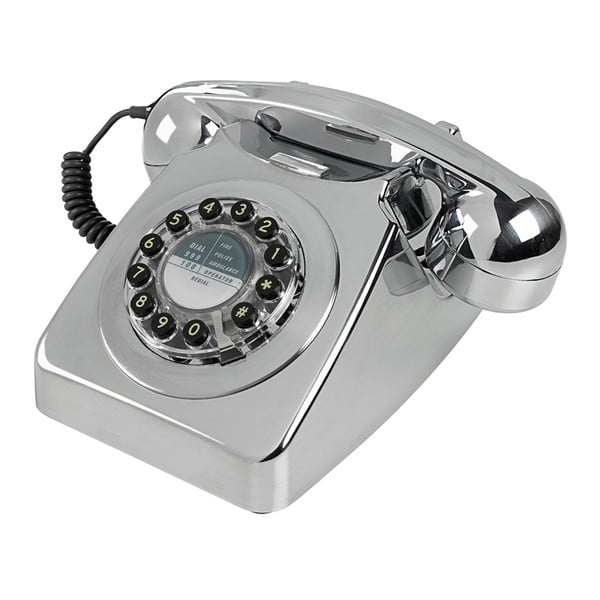 Retro funkční telefon Serie 746 Brushed Chrome