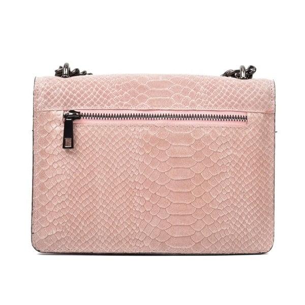 Růžová kožená kabelka Renata Corsi Rita