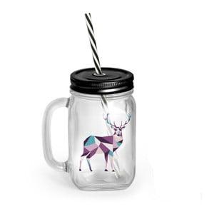 Borcan cu pai și capac Vialli Design Mia Natura Deer, 450 ml