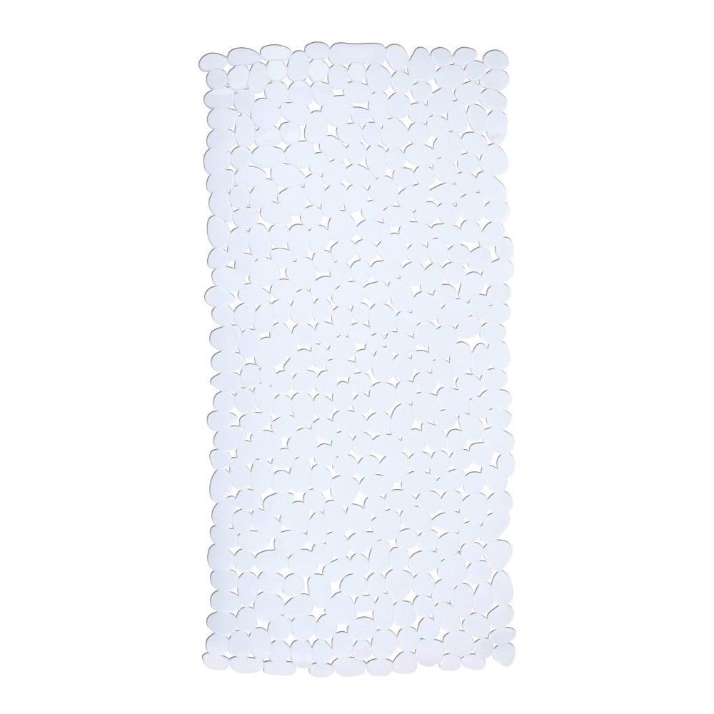 Bílá protiskluzová koupelnová podložka Wenko Drop, 71 x 36 cm