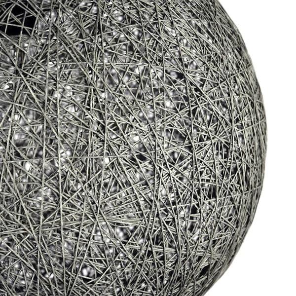 Šedé stropní svítidlo LABEL51 Twist, ⌀ 60 cm