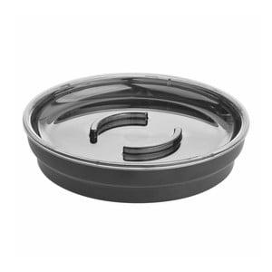 Černá miska na mýdlo iDesign, ø 11,4 cm