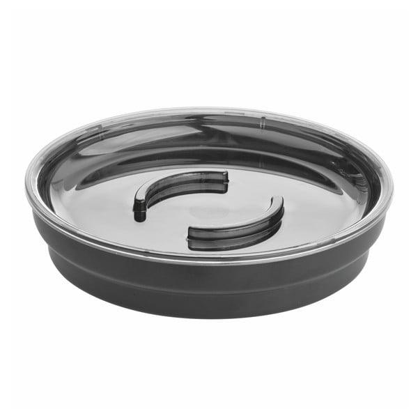 Fekete szappantartó, ø 11,4 cm - iDesign