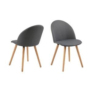 Set 2 scaune Actona Manley, gri închis