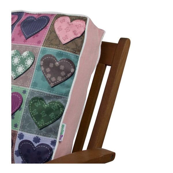 Pernă pentru scaun Gravel Hearts, 42x42cm,cuumplutură