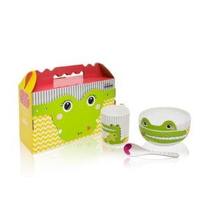 Dětský porcelánový set Happy Crocodile