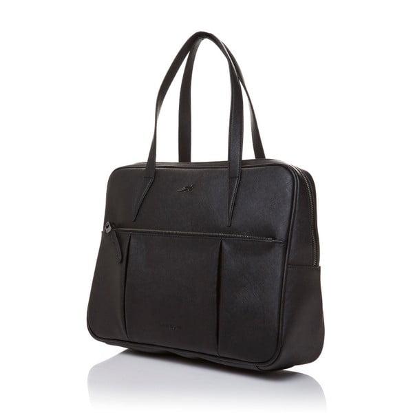 Kožená kabelka přes rameno Marta Ponti Negozio, černá