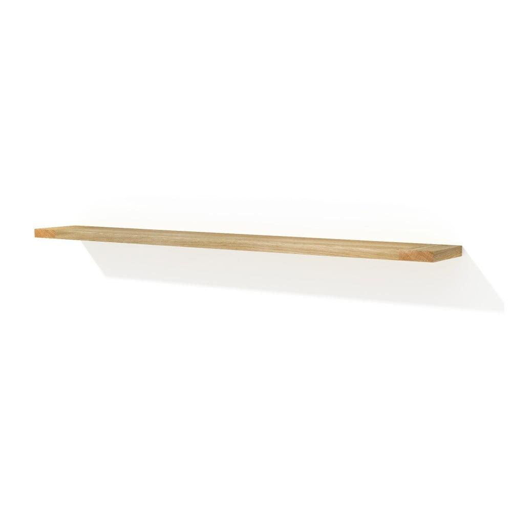 Nástěnná polička z masivního dubového dřeva Javorina Solid, 180 cm