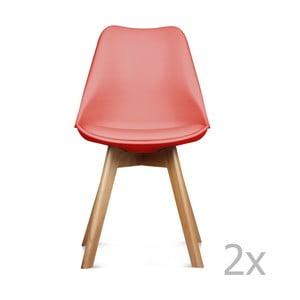 Sada 2 červených židlí Opjet Scandinavie