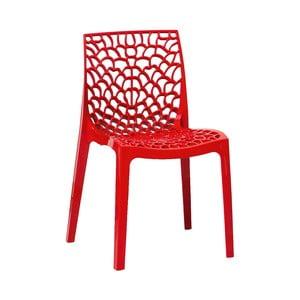 Sada 2 červených jídelních židlí Evergreen House Faux