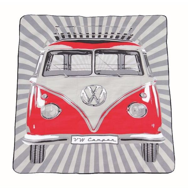 Pikniková taška s dekou VW Camper, červená