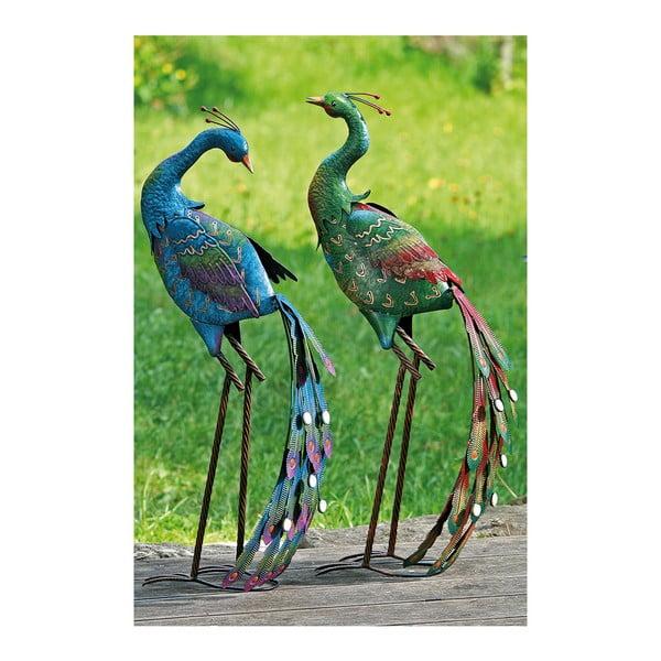 Sada 2 dekorativních zahradních pávů Peacock