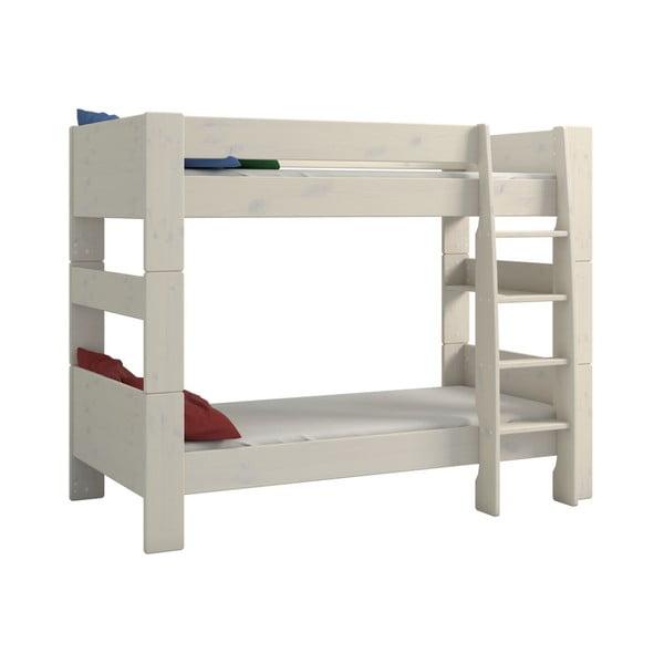 For Kids fehér emeletes gyerekágy borovi fenyőfából, magasság 164 cm - Steens