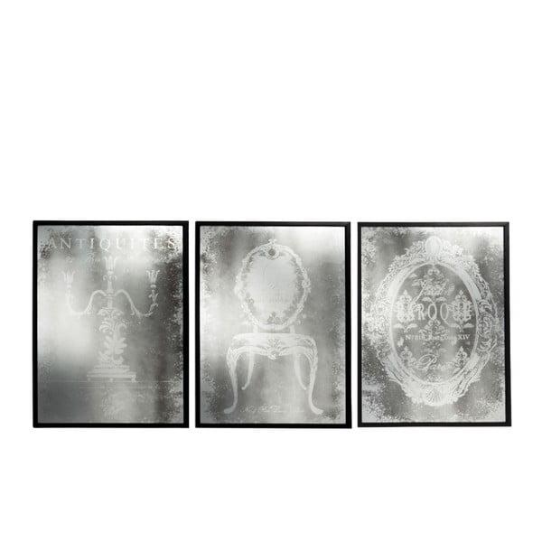 Sada tří obrazových zrcadel Antique