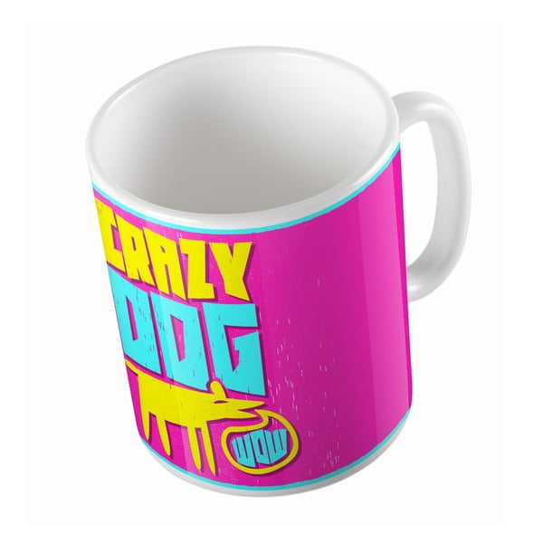 Keramický hrnek Crazy Dog, 330 ml
