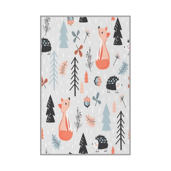 Detský protišmykový koberec Homefesto Forest, 80 x 120 cm