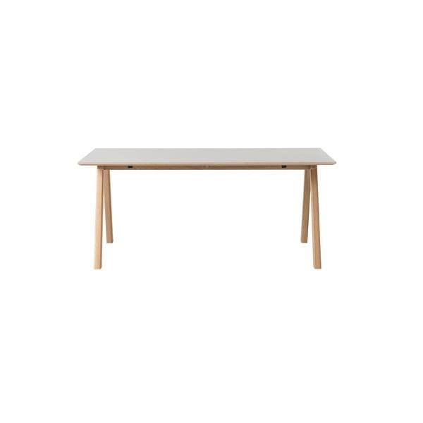 Szary stół z nogami z drewna dębowego Unique Furniture Bilbao