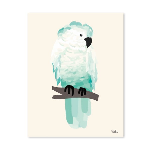 Plakát Michelle Carlslund Green Cockatoo, 50x70cm