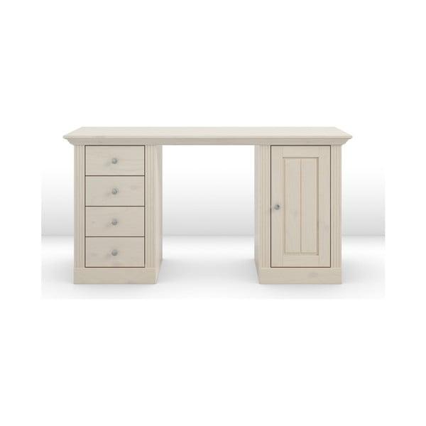 Birou de scris din lemn de pin Steens Monaco, alb