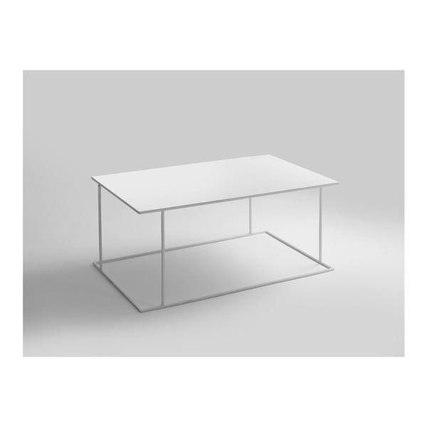Walt fehér dohányzóasztal, hossza 100 cm - Custom Form