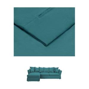 Tyrkysový povlak na trojmístnou pohovku THE CLASSIC LIVING Helene, levýroh