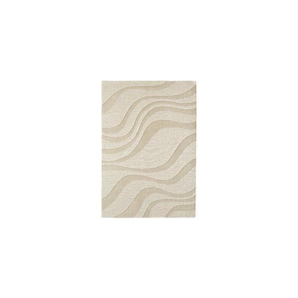 Vlněný koberec Aero Sand, 90x150 cm