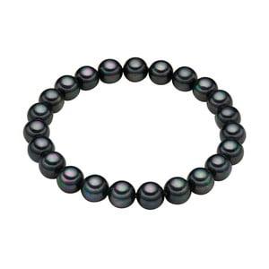 Náramek s antracitově černými perlami Pearldesse Muschel, délka 17 cm