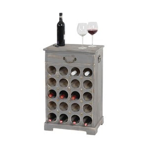 Stojan na 20 lahví vína Shabby, šedý