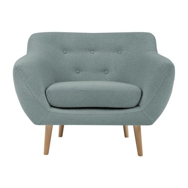 Sicile mentol zöld fotel világos lábakkal - Mazzini Sofas