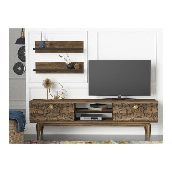 Set comodă TV și 2 rafturi Royal