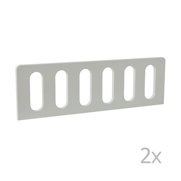 Modern 2 darab fehér leesésgátló, 160 x 70 cm - Pinio
