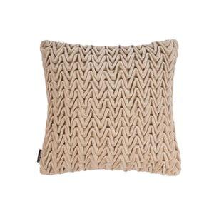 Béžový polštář ZicZac Waves, 45x45cm