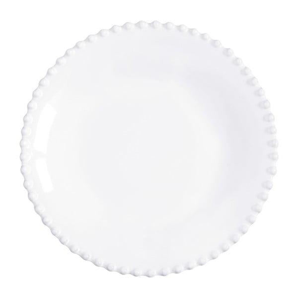 Bílý kameninový talíř na polévku Costa Nova Pearl, ⌀24cm
