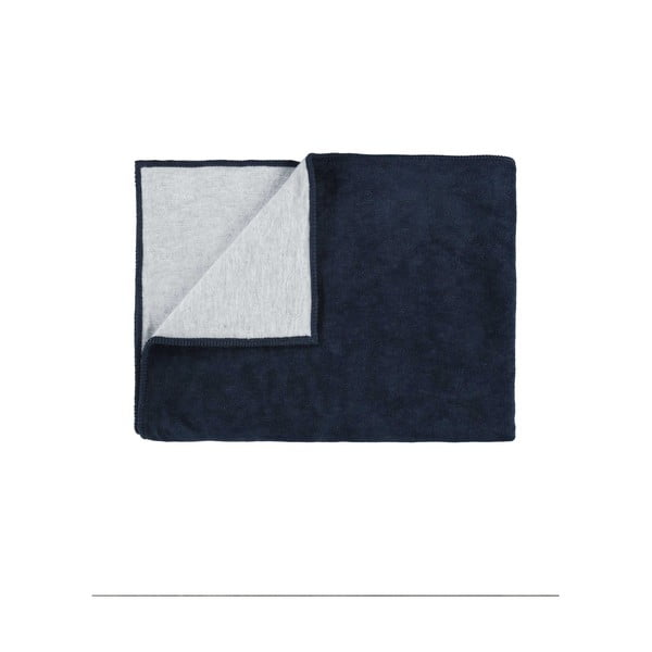 Fleecový pléd Marc O'Polo Classic, 150x200 cm, tmavě modrý
