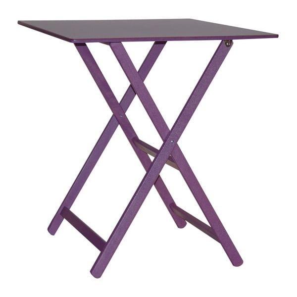 Fialový skládací stůl z bukového dřeva Valdomo Maison, 60x80cm