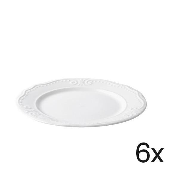 Sada 6 dezertních talířů Rosa