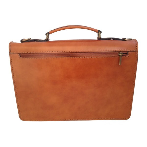 Béžová kožená taška Messenger