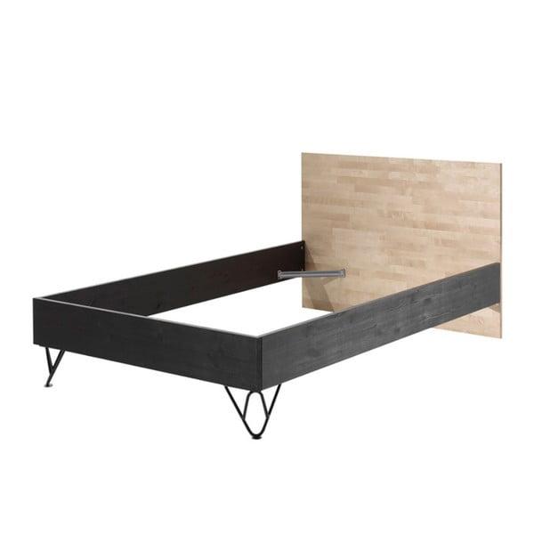Rám postele z masívneho borovicového a brezového dreva Vipack William, 200 × 90 × 120 cm
