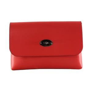 Červená kožená kabelka Chicca Borse Penny