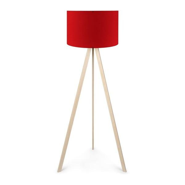Wolno stojąca lampa z czerwonym abażurem Brussel