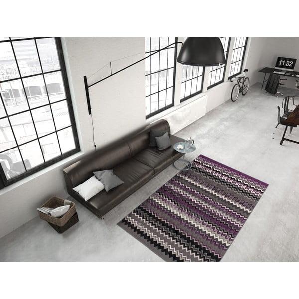 Fialovo-černý koberec Kayoom Stella 700 Violet, 160x230cm