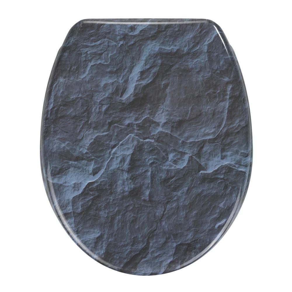 WC sedátko se snadným zavíráním Wenko Slate Rock, 44,5 x 37,5 cm