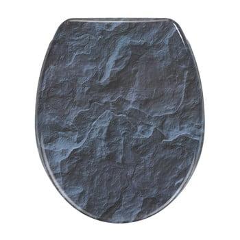 Capac WC cu închidere lentă Wenko Slate Rock, 44,5 x 36,5 cm de la Wenko