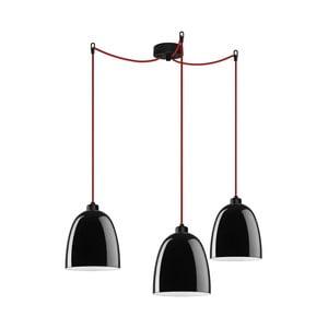 Trojité světlo AWA Elementary black glossy/red/black