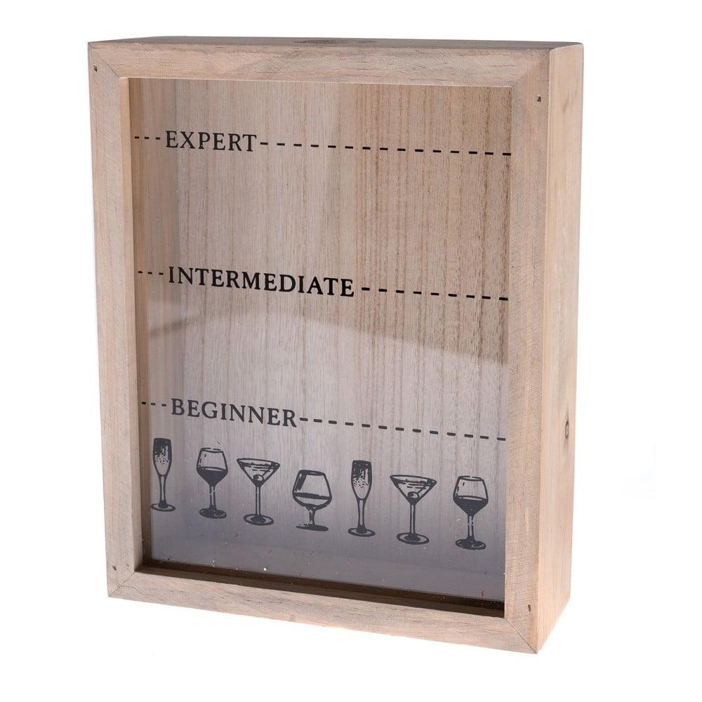 Dřevěná krabička na korkové zátky Dakls