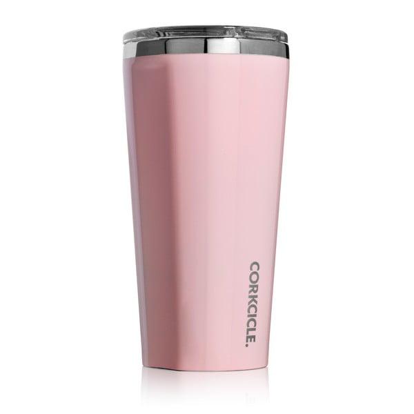 Světle růžový cestovní termohrnek Root7 Tumbler, 260 ml