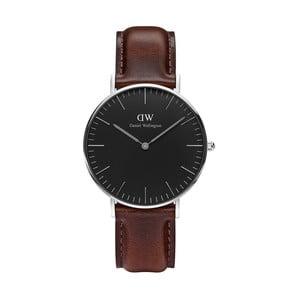 Unisex hodinky s hnědým páskem Daniel Wellington Bristol Silver, ⌀36mm