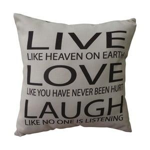 Polštář Live, Love, Laugh, 45x45 cm