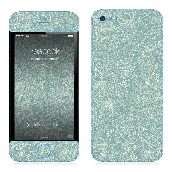 Samolepka na iPhone 5/5S, Peacock